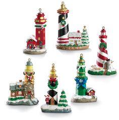 Holiday Lighthouse Set . . .