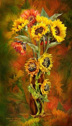 Sun Flowers , no matter what direction the sun is...they turn their faces towards the sun!