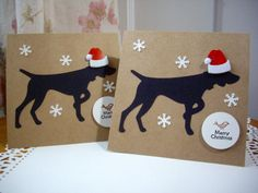 german shorthaired pointer christmas card dog by PointingDogPaper