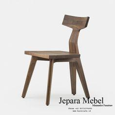 Jual Kursi Cafe Ikan Kayu Jati - Jepara Mebel - Jual Kursi Cafe Murah Cafe Furniture, Black Oil, Simple Elegance, White Oak, Solid Wood, Dining Chairs, Kitchen, Image, Design