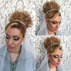 Princess bridal hair