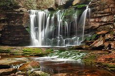 Elakala Falls, West Virginia    The Elakala Falls are a series of four waterfalls of Shays Runas it descends into theBlackwater Canyon in West Virginia.