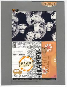 layout Scrapbooking Layouts, Scrapbook Cards, Scrapbook Photos, Mini Albums, Halloween Banner, Photo Layouts, Studio Calico, Layout Inspiration, Paper Cards