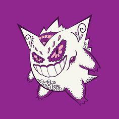 Gengar Pokemuerto | Pokemon & Day of The Dead Mashup by abowersock  #nintendo #pokemon #pikachu #Dayofthedead #sugarskulls #calaveras