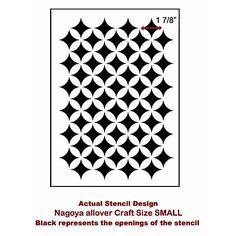 Nagoya Craft Stencil by Cutting Edge Stencils: http://www.cuttingedgestencils.com/nagoya-furniture-stencil.html