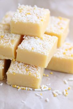 Creamy Lemon Fudge recipe by Sugar Salt Magic. A creamy and silky-smooth lemon fudge with a great tang!