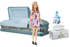 Funeral Director Barbie - I wonder what gauge steel that casket is...and can I buy the vault separately...?