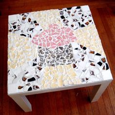 Mosaic tabletop:: SO pretty, tons of creative ideas