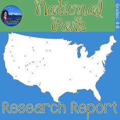 When you are ready to have your students complete a research report, this unit on America's National Parks has everything you need. It includes the breakdown, process, and instruction for a five-paragraph paper. Ela Classroom, Classroom Language, Readers Workshop, Writing Workshop, Social Studies Activities, Thing 1, Research Paper, Social Science, National Parks