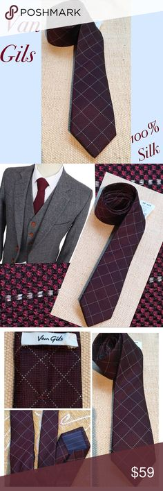100% SILK VAN GILS TIE Class it UP for a LOW price. There are ties and then there is Van Gil. Ties are not just for suits anymore Do You, but do it Well Van Gils Accessories Ties