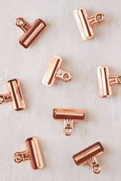 Copper Bulldog Clips Set