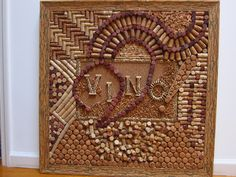 VINO. Wine cork board in a very rare cork frame by winecorkworks, 3,399.00. Ridiculous price... But neat idea