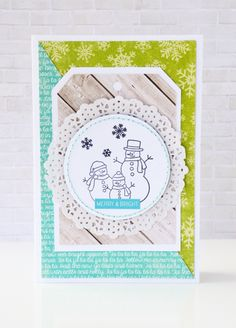 Merry & Bright Card by Leanne Allinson for Jillibean Soup