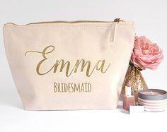 Rustic Ivory & Pearl Bridesmaid Gift Bag by HanmadeDesignsUK