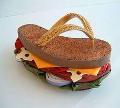 Sculptural Burger Sandals - Robert Tabor's Shoe Designs Look Good Enough to Eat (GALLERY)