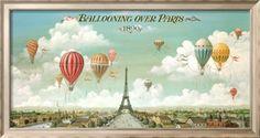 Ballooning Over Paris Art Print by Isiah and Benjamin Lane at Art.co.uk
