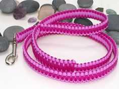 Two Tone Pink Paracord Dog Lead   Leash