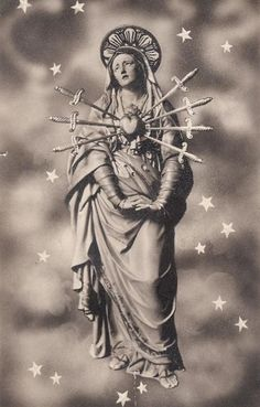 Maria SS. dei Sette Dolori  The statue of Our Lady of Seven Sorrows in the church of San Carlo in Turin, Italy.