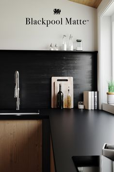 Blackpool Matte Is A Rich Matte Black Design Unlike Any Other Choice For  Dark Kitchen Countertops. Designs In Cambria Matte Finish Offer  Maintenance Free ...