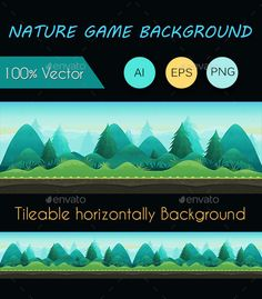 Nature Game Background You can use this background for your game application/project. It suits for game developers, or indie game