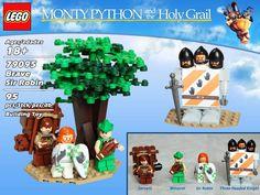 Sacré Graal version Lego. Le chevalier à trois têtes.