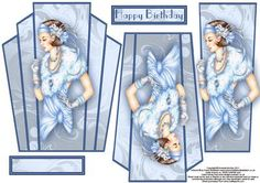 - A stunning art deco topper with layers featuring lady in blue Debbie Moore, Art Deco Cards, 3d Sheets, 3d Pattern, Decoupage Paper, Blue Art, Hobbies And Crafts, Art Deco Fashion, Creative Inspiration