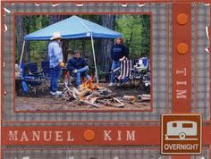 Camping and Outdoor Scrapbook Page Layout Ideas: Camping