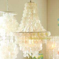 Westlands Mediterranean seashells chandelier lighting fixtures living room dining room bedroom den creative chandelier lamp hote(China (Mainland))