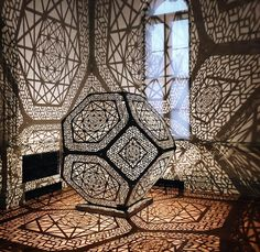 Have you checked out the new Renwick Gallery exhibit? It's open all summer long (not that today feels anything like summer 😏)! Islamic Architecture, Art And Architecture, Lampe 3d, Oriental Pattern, Light And Shadow, Islamic Art, Installation Art, Metal Art, Washington Dc