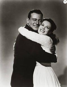 Maureen O'Hara et John Wayne dans L'homme tranquille.