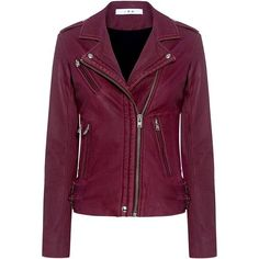 Iro - Han Lambskin Leather Biker Jacket ($1,265) ❤ liked on Polyvore featuring outerwear, jackets, iro jacket, evening jackets, biker jacket, purple biker jacket and rider jacket
