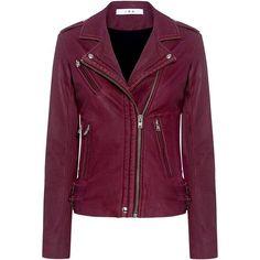 Iro - Han Lambskin Leather Biker Jacket (2.925 BRL) ❤ liked on Polyvore featuring outerwear, jackets, leather jackets, evening jackets, lambskin leather jackets, iro jacket, lambskin jacket and cocktail jackets