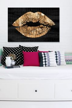 Solid Kiss Night Canvas Wall Art by Oliver Gal Gallery on @HauteLook