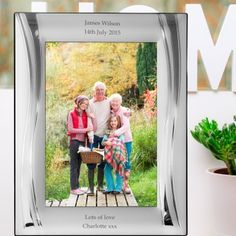 Engraved Luxury Silver Swirl Photo Frame