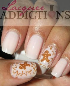 Gingerbread Cookies- Day 3. Lacquer Addictions nail blog.