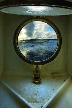 A portal view of the unknown sea, headed for somewhere warm.  Source: alongtimegonegallery