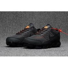 f38f0154e45f2 Men s Nike Air Vapormax Flyknit 2018 Anthracite Grey Orange New Style