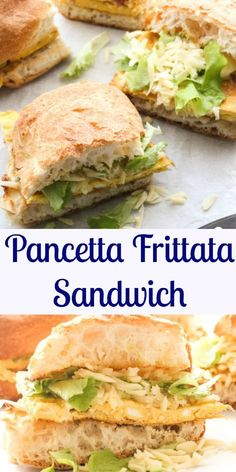 Pancetta Frittata Sandwich, a fast easy and delicious Toasted Italian Sandwich recipe, perfect for breakfast,brunch, lunch and even dinner. anitalianinmykitchen.com