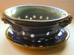 Berry Colander  Berry Bowl  Hand thrown Pottery  by MinsBoutique, $48.00