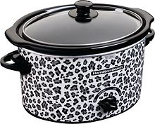 $20.   3 quart cheetah crockpot, I will get this for Emma when she gets married. haha