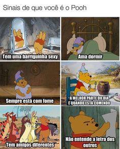 Eh sou o pooh kkk Yin Yoga, Funny Images, Funny Pictures, Otaku Meme, Memes Status, Top Memes, Disney Memes, Disney Pixar, Cartoon Memes