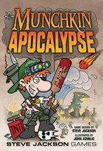 Munchkin Apocalypse-> this is a super fun card game that I love and also don't own. If you can find it, I'd LOVE to own it or any of the munchkin spin offs