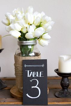 Chalkboard Table Numbers Wedding Table Numbers by BordenSpecifics, $4.00