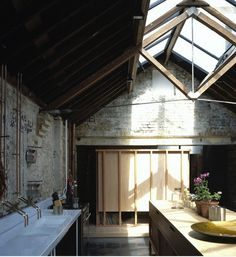 Lovely truss design and roof lights