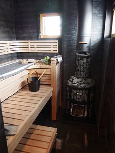 Bathroom Interior Design, Home Interior, Modern Saunas, Building A Sauna, Sauna Design, Outdoor Sauna, Floor To Ceiling Windows, Log Homes, Home Remodeling