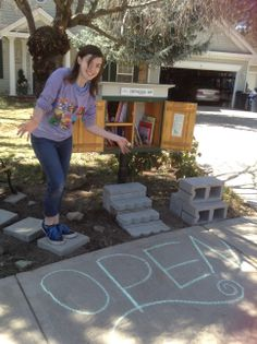 Morgan Impliazzo. Bend, OR. I made the library for a Girl Scout project to help my neighborhood!