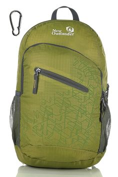 Outlander Ultra Lightweight Packable Water Resistant Travel Hiking Backpack Daypack Handy Foldable Camping Outdoor Backpack Water-resistant and DURABLE. The backpack is made from highly rip and water-resistant nylon fabric COMPACT. Folds into zippered inner pocket to fit anywhere.  LIGHTWEIGHT(0.46/0.5 Pounds) and ROOMY(20/33 Liters) MULTIPLE COMPARTMENTS #hiking #survival #camping #outdoor #trekking #backpack #backpacks #backpacking #daypack #outdoorbackpack #hikingbackpack
