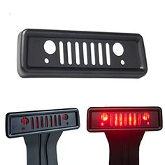 Airisland Brake Light Cover for Jeep Wrangler Third Tail Light Cover Rear Lamp Protector for 2007-2017 Jeep Wrangler JK and JKU Unlimited Accessories Durable Aluminum with Black Coating Finish V1.0 #Airisland #Brake #Light #Cover #Jeep #Wrangler #Third #Tail #Rear #Lamp #Protector #Unlimited #Accessories #Durable #Aluminum #with #Black #Coating #Finish
