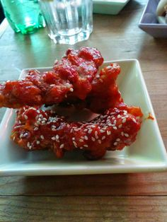 Hot chicken strips @ JUBO Korean Canteen