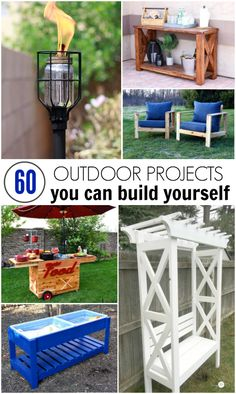 #woodworkingplans #woodworking #woodworkingprojects I've rounded up 60 of the best DIY outdoor projects that you can build yourself!